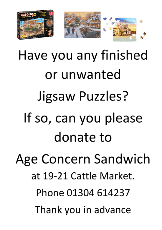 Events at Age Concern Sandwich